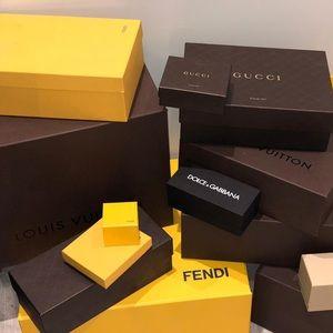 Accessories - Louis Vuitton, Fendi, Gucci box's